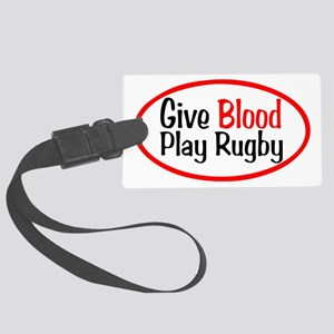 Give Blood_Rugby Large Luggage Tag