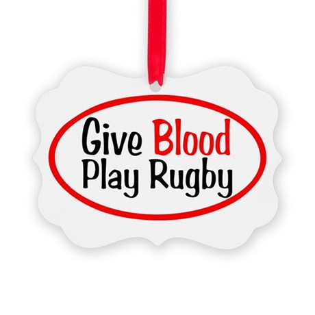 Give Blood_Rugby.png Picture Ornament
