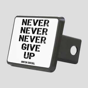 Never Give Up Rectangular Hitch Cover