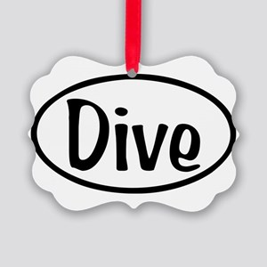 Dive Oval Picture Ornament