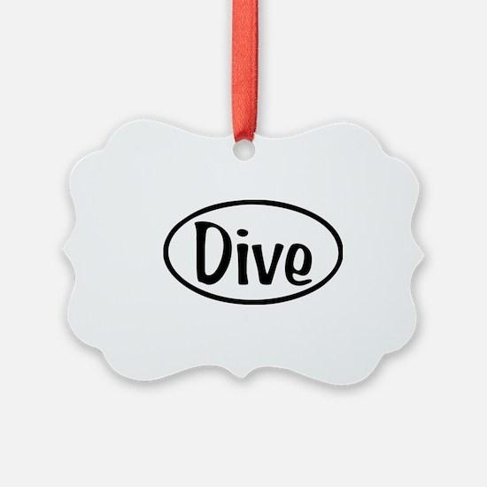 Dive Oval Ornament