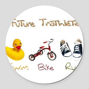 Future Triathlete Round Car Magnet