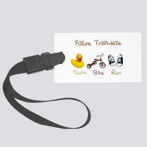 Future Triathlete Large Luggage Tag
