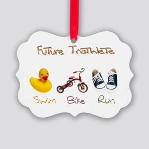 Future Triathlete Picture Ornament