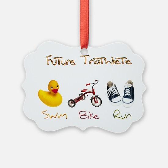 Future Triathlete Ornament