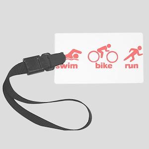 Swim Bike Run Large Luggage Tag