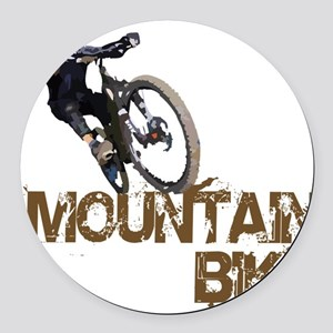 Mountain Bike Round Car Magnet