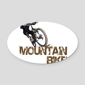 Mountain Bike Oval Car Magnet