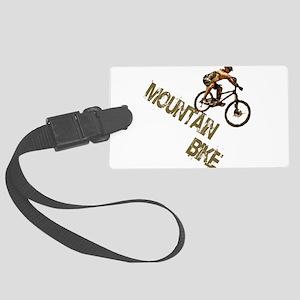 Mountain Bike Downhill Large Luggage Tag