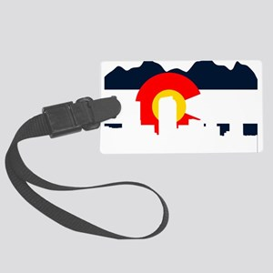 CO_Flag2_Navy Large Luggage Tag