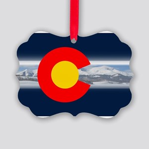 CO_Flag_Mountain Picture Ornament
