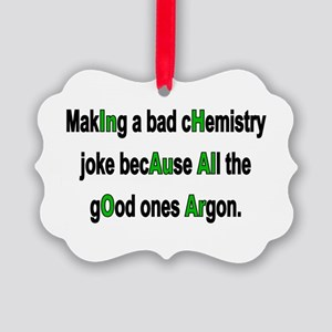 Chem Joke Picture Ornament
