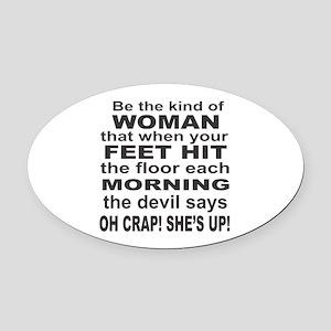 Oh Crap Devil Oval Car Magnet