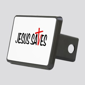 Jesus Saves Rectangular Hitch Cover