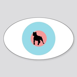 The Low-Vis Oval Sticker