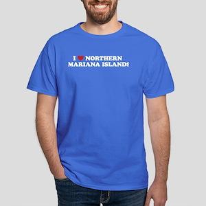 I Love Northern Mariana Islands Dark T-Shirt