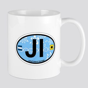 Jekyll Island GA - Oval Design. Mug