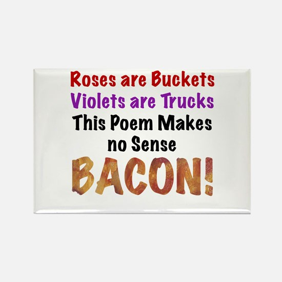 Colorful Bacon Poem Rectangle Magnet