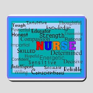 Nurse Blanket blue Mousepad