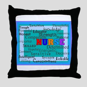 Nurse Blanket blue Throw Pillow