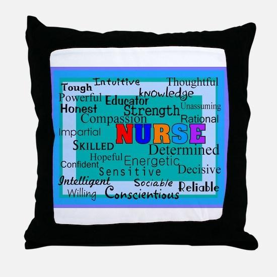 Nurse Blanket blue.PNG Throw Pillow