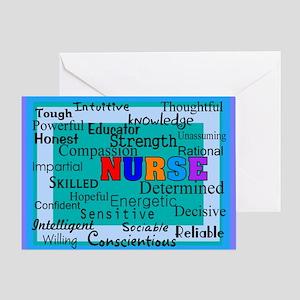 Nurse Blanket blue Greeting Card