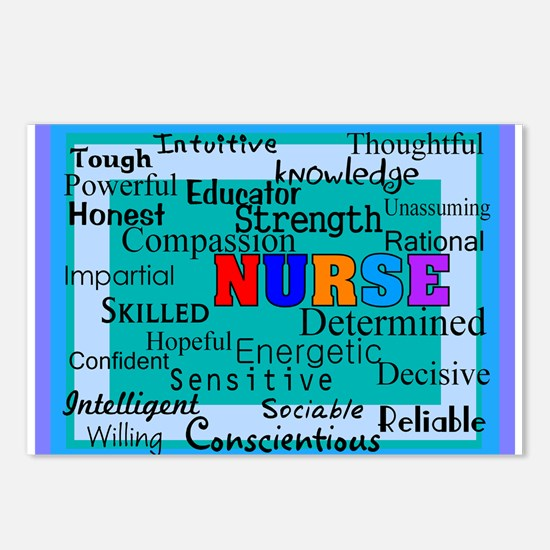 Nurse Blanket blue.PNG Postcards (Package of 8)