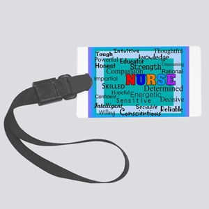 Nurse Blanket blue Large Luggage Tag