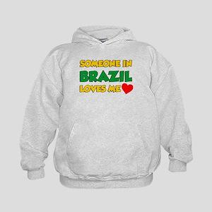 Someone In Brazil Loves Me Kids Hoodie