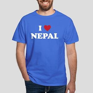 I Love Nepal Dark T-Shirt