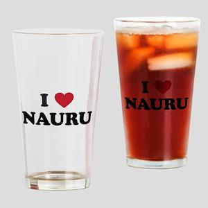 I Love Nauru Drinking Glass