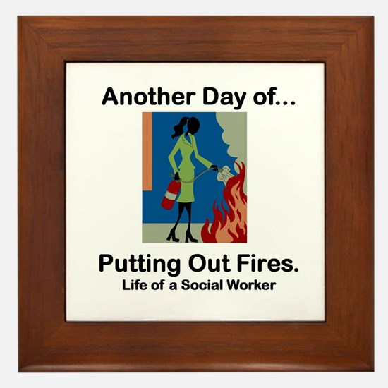 Life of a Social Worker Framed Tile