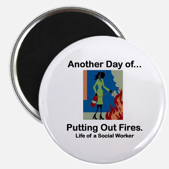 """Life of a Social Worker 2.25"""" Magnet (10 pack)"""