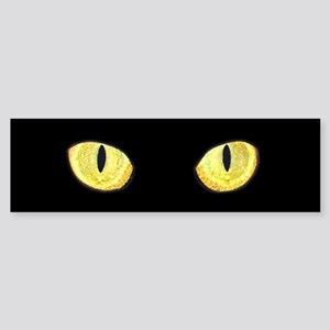 Amber Cat Eyes Sticker (Bumper)