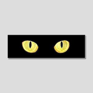 Amber Cat Eyes Car Magnet 10 x 3