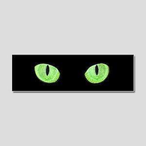 Green Cat Eyes Car Magnet 10 x 3