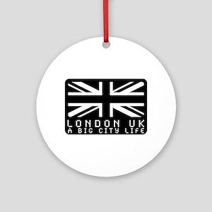 Hype british flag Ornament (Round)