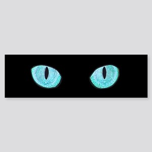Blue Cat Eyes Sticker (Bumper)