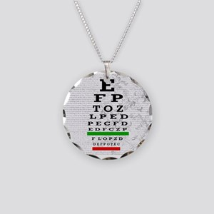 optomitrist blanket Necklace Circle Charm