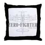 ZEROFIGHTER3 Throw Pillow