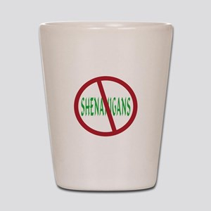 No Shenanigans Symbol Shot Glass