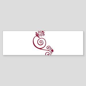 floral Sticker (Bumper)