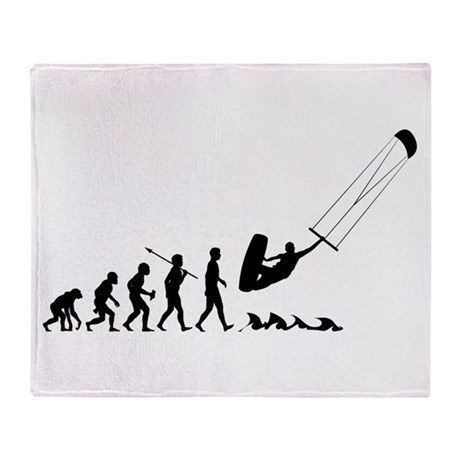 Kitesurfing Throw Blanket