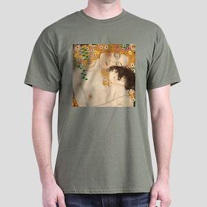 Gustav Klimt Mother And Child Dark T-Shirt