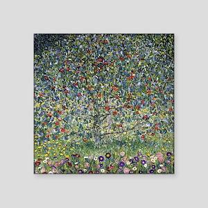 "Gustav Klimt Apple Tree Square Sticker 3"" x 3"""