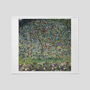Gustav Klimt Apple Tree Throw Blanket