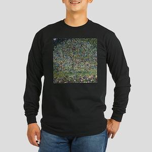 Gustav Klimt Apple Tree Long Sleeve Dark T-Shirt