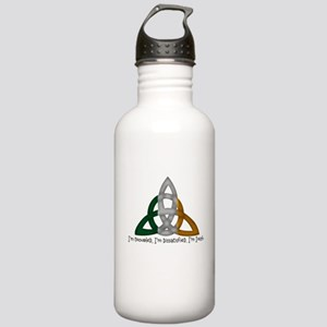 imtroubledwhite Stainless Water Bottle 1.0L