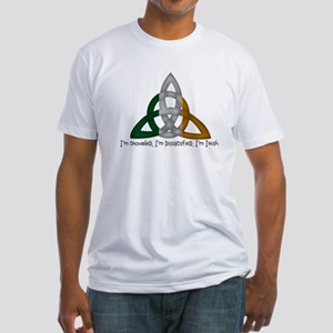 imtroubledwhite Fitted T-Shirt