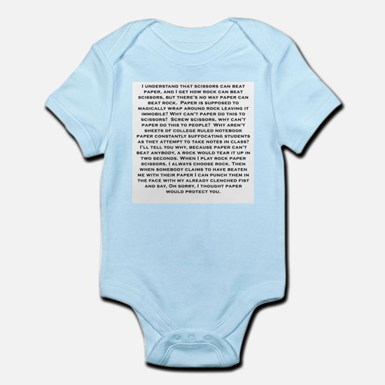 Rock Paper scissors Infant Bodysuit